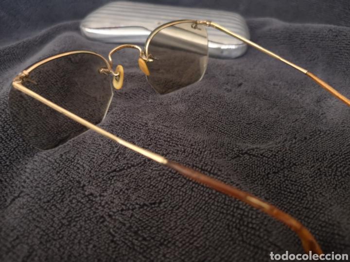 Antigüedades: Antiguas gafas de vista con estuche metálico de aluminio - Foto 3 - 222387461