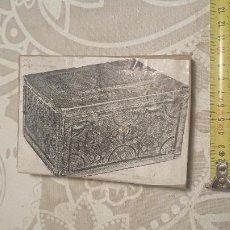 Antigüedades: ANTIGUA PLACA DE COBRE CON GRABADO PARA GRABAR - INPRIMIR EN PAPEL MATRIZ IMPRENTA AÑOS 20-30. Lote 222397053
