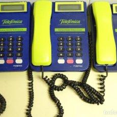 Teléfonos: 3 TELÉFONOS ANTIGUOS DE LOCUTORIOS. MODELO FONETAX. TELEFÓNICA. 2,3KG. Lote 222397131