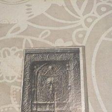 Antigüedades: ANTIGUA PLACA DE COBRE CON GRABADO PARA GRABAR - INPRIMIR EN PAPEL MATRIZ IMPRENTA AÑOS 20-30. Lote 222397167