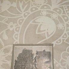 Antigüedades: ANTIGUA PLACA DE COBRE CON GRABADO PARA GRABAR - INPRIMIR EN PAPEL MATRIZ IMPRENTA AÑOS 20-30. Lote 222397527