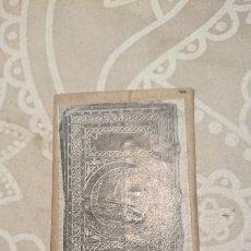 Antigüedades: ANTIGUA PLACA DE COBRE CON GRABADO PARA GRABAR - INPRIMIR EN PAPEL MATRIZ IMPRENTA AÑOS 20-30. Lote 222397687