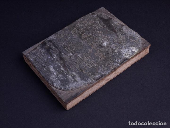 ZINCOGRABADO, CLICHE PARA IMPRESION. PAISAJE (Antigüedades - Técnicas - Herramientas Profesionales - Imprenta)