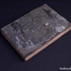 Antigüedades: ZINCOGRABADO, CLICHE PARA IMPRESION. PAISAJE. Lote 222416288
