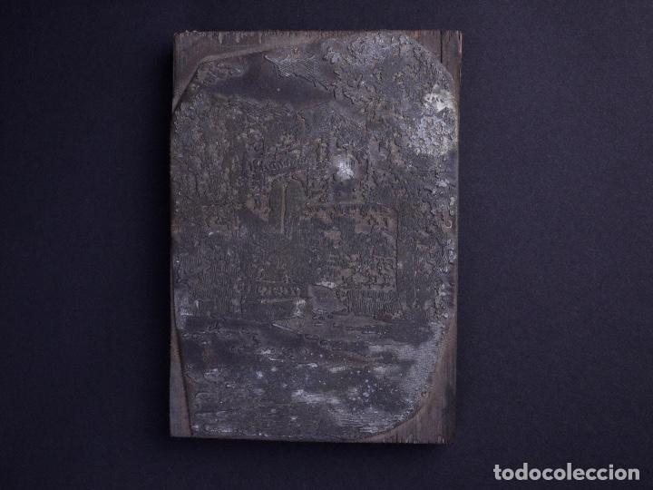 Antigüedades: ZINCOGRABADO, CLICHE PARA IMPRESION. PAISAJE - Foto 2 - 222416288