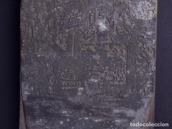 Antigüedades: ZINCOGRABADO, CLICHE PARA IMPRESION. PAISAJE - Foto 3 - 222416288