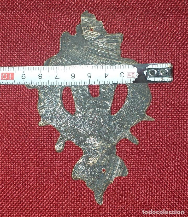 Antigüedades: BOCA LLAVE O ESCUDO DE BRONCE SIGLO XIX - Foto 4 - 222417041