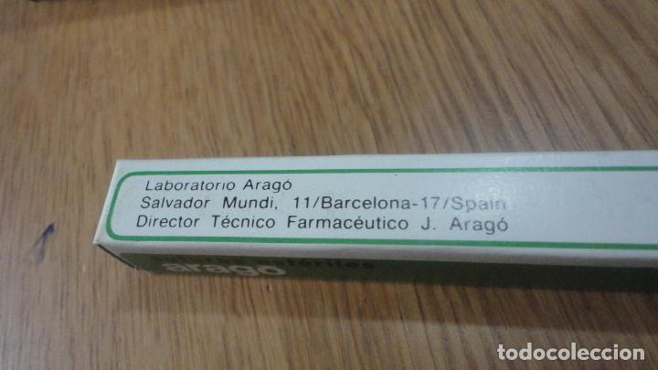 Antigüedades: ANTIGUO DEPOSITO SUTURAS ESTERILES.ARAGO BARCELONA.SEDA TRENZADA.CIRUGIA.MEDICINA - Foto 4 - 222419925
