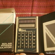 Antigüedades: ANTIGUA CALCULADORA SOLAR, SOLAR POWER CALCULATOR. CON CAJA, INSTRUCCIONES, Y FUNDA.. Lote 222431446