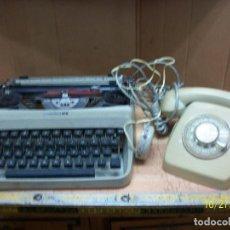 Antigüedades: LOTE DE MAQUINA DE ESCRIBIR-UNDERWOOD-MODELO 18 MAS TELEFONO. Lote 222446532