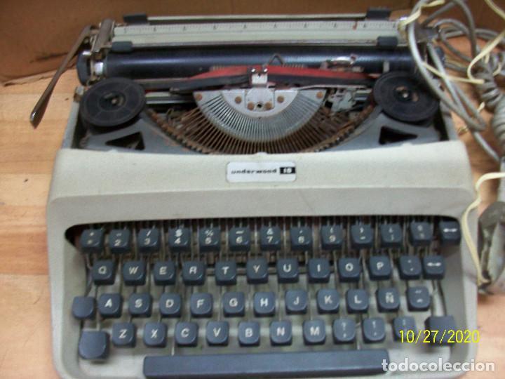 Antigüedades: LOTE DE MAQUINA DE ESCRIBIR-UNDERWOOD-MODELO 18 MAS TELEFONO - Foto 2 - 222446532