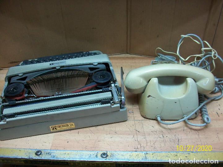 Antigüedades: LOTE DE MAQUINA DE ESCRIBIR-UNDERWOOD-MODELO 18 MAS TELEFONO - Foto 4 - 222446532