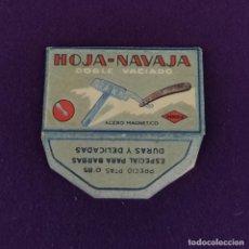 Antigüedades: FUNDA DE HOJA DE CUCHILLA DE AFEITAR ANTIGUA. HOJA NAVAJA DOBLE VACIADO.. Lote 222456861