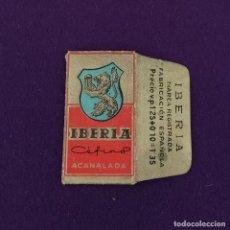 Antigüedades: FUNDA DE HOJA DE CUCHILLA DE AFEITAR ANTIGUA. IBERIA CEFIRO ACANALADA.. Lote 222457113
