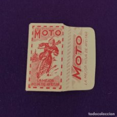 Antigüedades: FUNDA DE HOJA DE CUCHILLA DE AFEITAR ANTIGUA. MOTO.. Lote 222457253