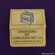 Antigüedades: FUNDA DE HOJA DE CUCHILLA DE AFEITAR ANTIGUA. PEBE.. Lote 222457397