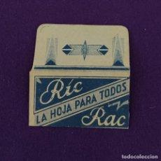 Antigüedades: FUNDA DE HOJA DE CUCHILLA DE AFEITAR ANTIGUA. RIC RAC.. Lote 222457495