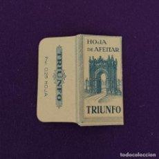 Antigüedades: FUNDA DE HOJA DE CUCHILLA DE AFEITAR ANTIGUA. TRIUNFO.. Lote 222457751