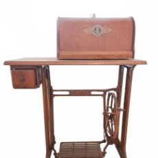 Antigüedades: MÁQUINA DE COSER SINGER. Lote 222460741