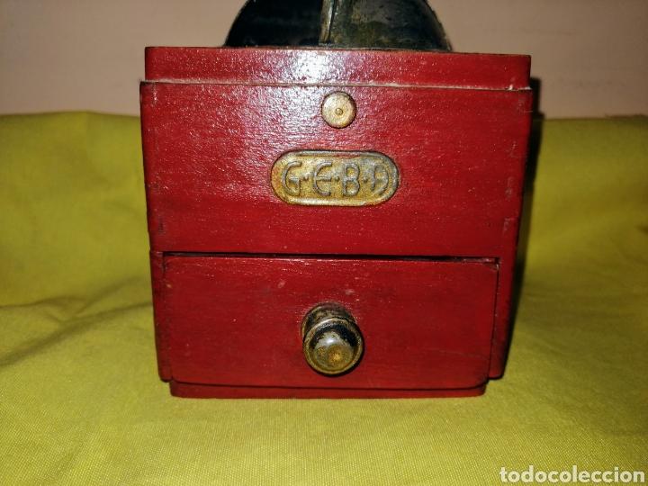 Antigüedades: MOLINILLO DE CAFE. MARCA : GEBA. MADERA Y METAL. ENVIO CERTIFICADO INCLUIDO. - Foto 3 - 222494636
