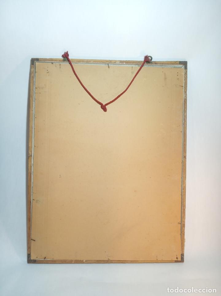 Antigüedades: Muy bello cartel litografiado con publicidad de máquinas Singer de coser. S. Durá. Valencia. - Foto 5 - 222504577