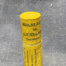 Antigüedades: TUBO CARTON BALNEARIO LIERGANES SANTANDER CANTABRIA BOQUILLA NASAL SUMINISTRO AGUAS PPIO S XX 7CMS. Lote 222515768