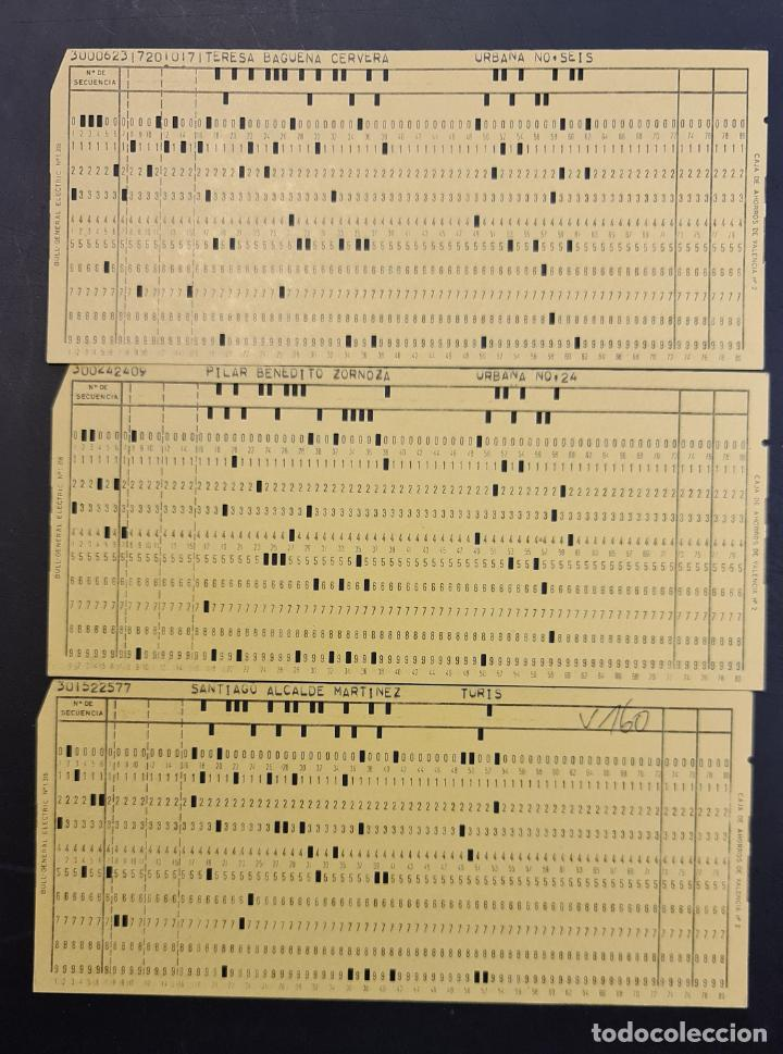 TARJETA PERFORADA BULL-GENERAL ELECTRIC Nº1318. PERFORADA. COLOR AMARILLO. LOTE DE 3. - TP (Antigüedades - Técnicas - Ordenadores hasta 16 bits (anteriores a 1982))