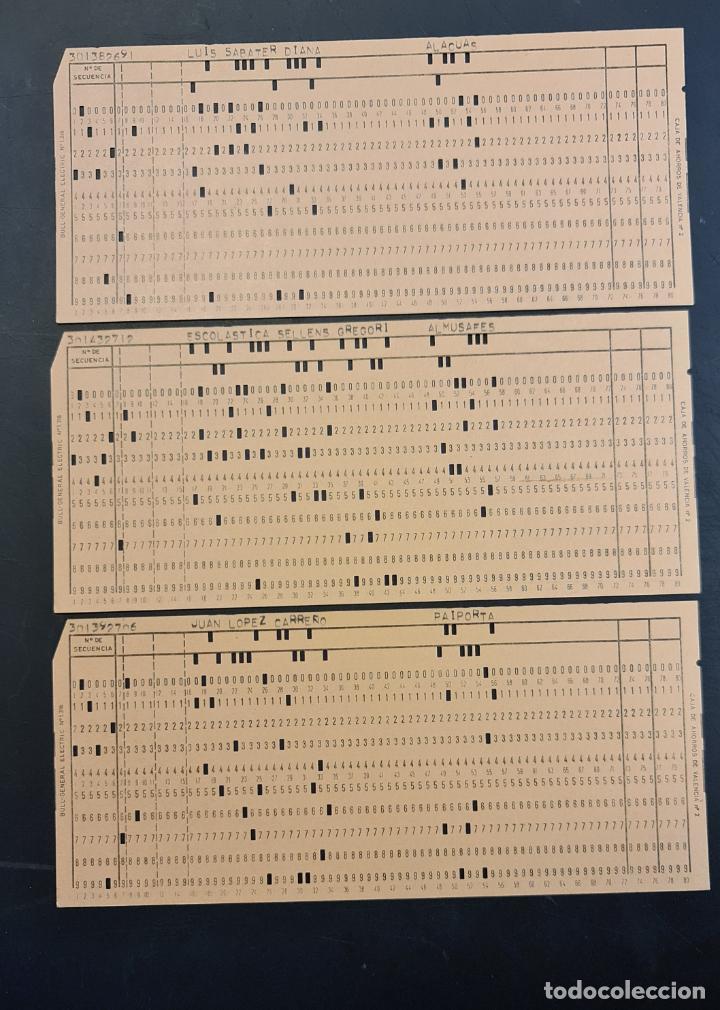Antigüedades: Tarjeta perforada BULL-GENERAL ELECTRIC Nº1318. PERFORADA. Color naranja. Lote de 4. - TP - Foto 2 - 222516012