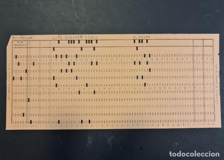 TARJETA PERFORADA BULL-GENERAL ELECTRIC Nº1318. PERFORADA. COLOR NARANJA. LOTE DE 4. - TP (Antigüedades - Técnicas - Ordenadores hasta 16 bits (anteriores a 1982))