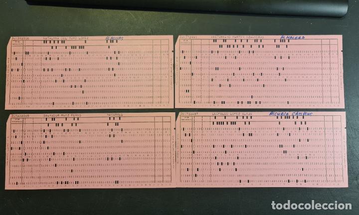 Antigüedades: Tarjeta perforada BULL-GENERAL ELECTRIC Nº1318. PERFORADA. Color rosa. Lote de 4. - TP - Foto 2 - 222516013