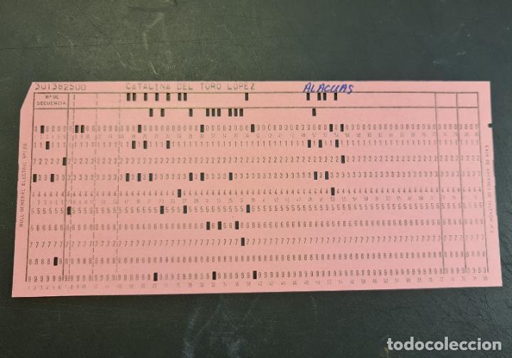 TARJETA PERFORADA BULL-GENERAL ELECTRIC Nº1318. PERFORADA. COLOR ROSA. LOTE DE 4. - TP (Antigüedades - Técnicas - Ordenadores hasta 16 bits (anteriores a 1982))