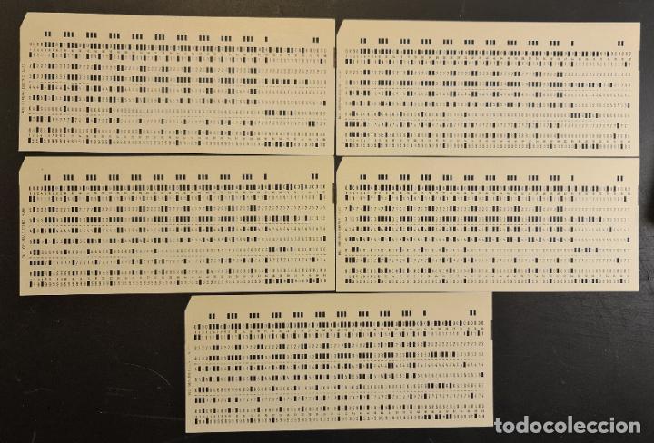 Antigüedades: Tarjeta perforada BULL-GENERAL ELECTRIC M80. PERFORADA. Color crema. Lote de 5. - TP - Foto 2 - 222516033