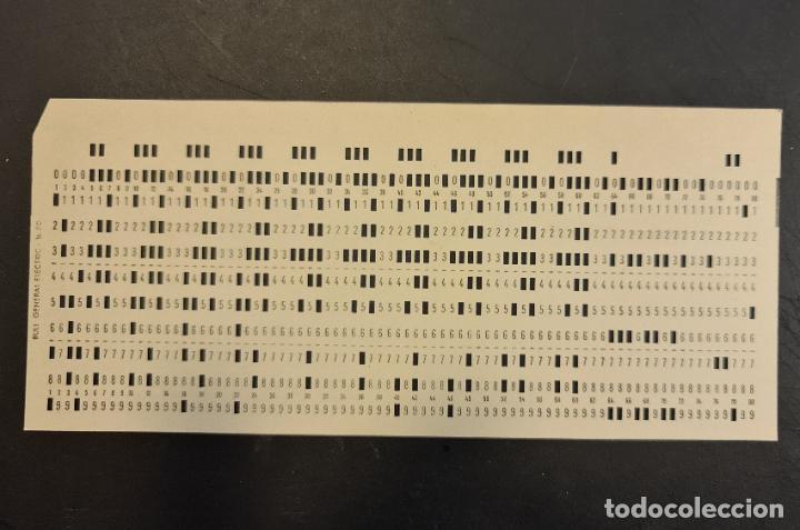 TARJETA PERFORADA BULL-GENERAL ELECTRIC M80. PERFORADA. COLOR CREMA. LOTE DE 5. - TP (Antigüedades - Técnicas - Ordenadores hasta 16 bits (anteriores a 1982))