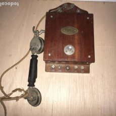 Teléfonos: TELEFONO GRAMMONT MURAL MADERA 1910. Lote 222519928