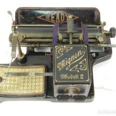 Antigüedades: MAQUINA DE ESCRIBIR HEADY MIGNON AÑO 1905 TYPEWRITER SCHREIBMASCHINE A ECRIRE. Lote 222550845