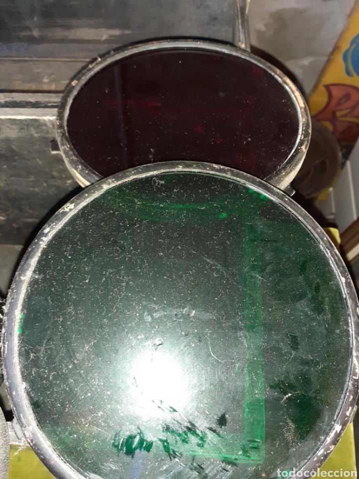 Antigüedades: Antiguo foco a visor marino para señales - Foto 3 - 222551142
