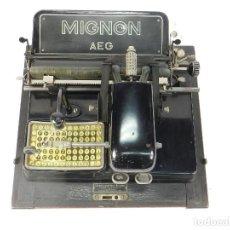 Antigüedades: MAQUINA DE ESCRIBIR MIGNON Nº3 AÑO 1915 TYPEWRITER SCHREIBMASCHINE A ECRIRE. Lote 222552322