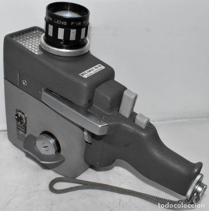 Antigüedades: EXCELENTE Y RARA CAMARA DE CINE A CUERDA..8mm..ELMO 8 S ZOOM AUTO EYE+..MUY BUEN ESTADO..FUNCIONA - Foto 2 - 222598596