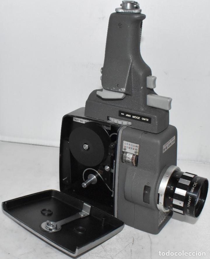 Antigüedades: EXCELENTE Y RARA CAMARA DE CINE A CUERDA..8mm..ELMO 8 S ZOOM AUTO EYE+..MUY BUEN ESTADO..FUNCIONA - Foto 3 - 222598596