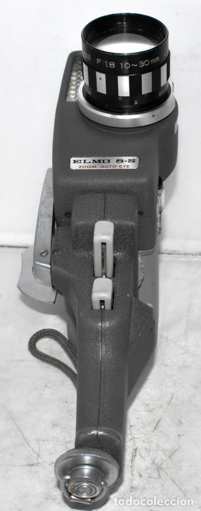Antigüedades: EXCELENTE Y RARA CAMARA DE CINE A CUERDA..8mm..ELMO 8 S ZOOM AUTO EYE+..MUY BUEN ESTADO..FUNCIONA - Foto 4 - 222598596