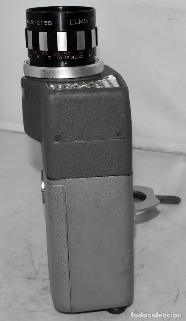 Antigüedades: EXCELENTE Y RARA CAMARA DE CINE A CUERDA..8mm..ELMO 8 S ZOOM AUTO EYE+..MUY BUEN ESTADO..FUNCIONA - Foto 6 - 222598596