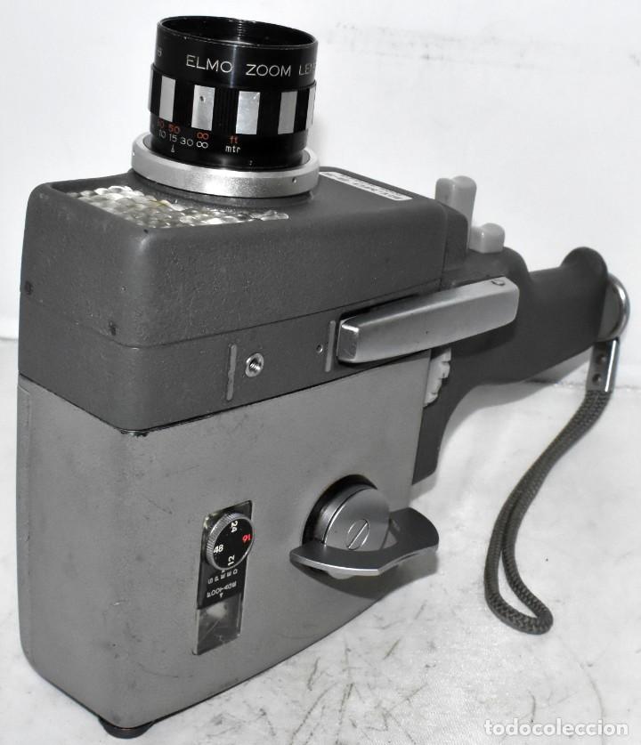 Antigüedades: EXCELENTE Y RARA CAMARA DE CINE A CUERDA..8mm..ELMO 8 S ZOOM AUTO EYE+..MUY BUEN ESTADO..FUNCIONA - Foto 7 - 222598596