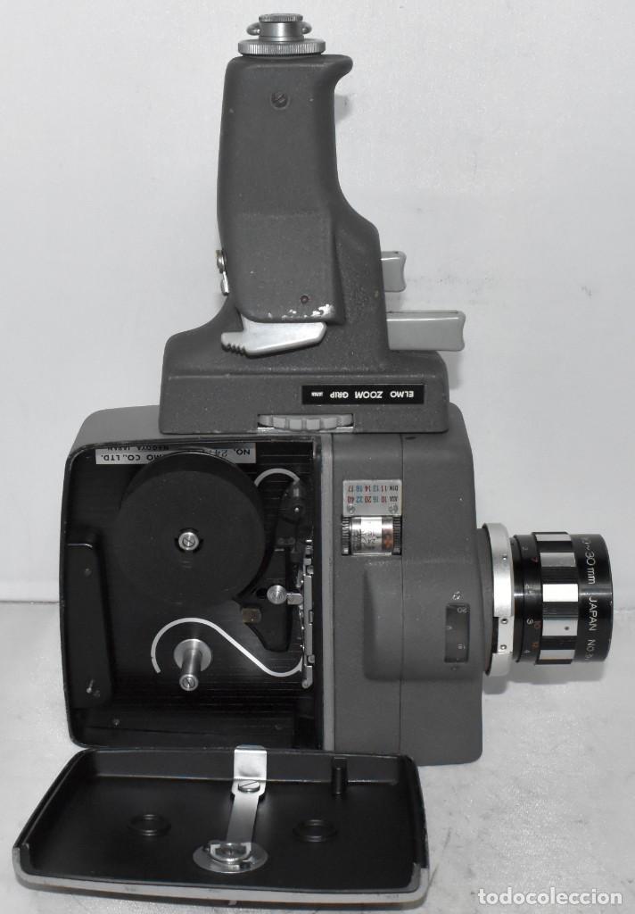 Antigüedades: EXCELENTE Y RARA CAMARA DE CINE A CUERDA..8mm..ELMO 8 S ZOOM AUTO EYE+..MUY BUEN ESTADO..FUNCIONA - Foto 8 - 222598596
