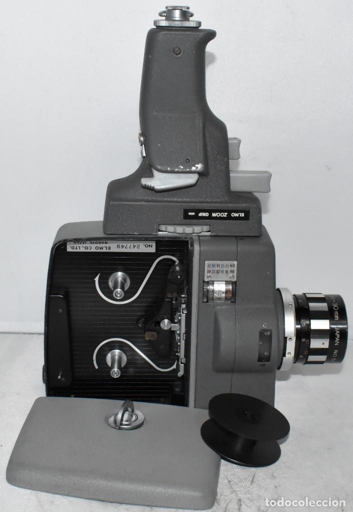 Antigüedades: EXCELENTE Y RARA CAMARA DE CINE A CUERDA..8mm..ELMO 8 S ZOOM AUTO EYE+..MUY BUEN ESTADO..FUNCIONA - Foto 9 - 222598596
