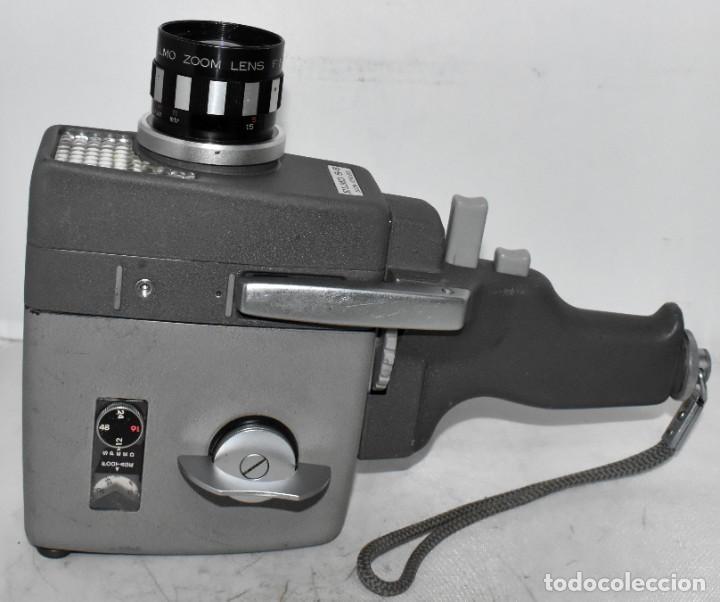 Antigüedades: EXCELENTE Y RARA CAMARA DE CINE A CUERDA..8mm..ELMO 8 S ZOOM AUTO EYE+..MUY BUEN ESTADO..FUNCIONA - Foto 10 - 222598596
