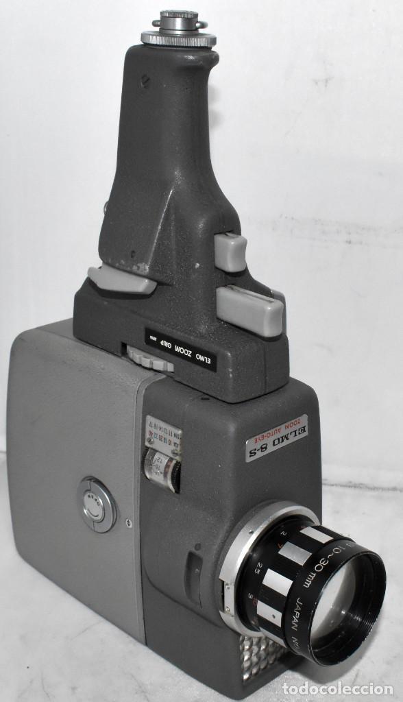 Antigüedades: EXCELENTE Y RARA CAMARA DE CINE A CUERDA..8mm..ELMO 8 S ZOOM AUTO EYE+..MUY BUEN ESTADO..FUNCIONA - Foto 11 - 222598596