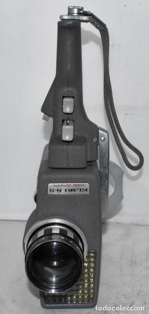 Antigüedades: EXCELENTE Y RARA CAMARA DE CINE A CUERDA..8mm..ELMO 8 S ZOOM AUTO EYE+..MUY BUEN ESTADO..FUNCIONA - Foto 12 - 222598596