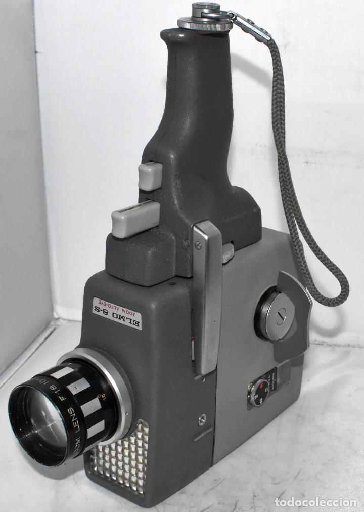 Antigüedades: EXCELENTE Y RARA CAMARA DE CINE A CUERDA..8mm..ELMO 8 S ZOOM AUTO EYE+..MUY BUEN ESTADO..FUNCIONA - Foto 13 - 222598596