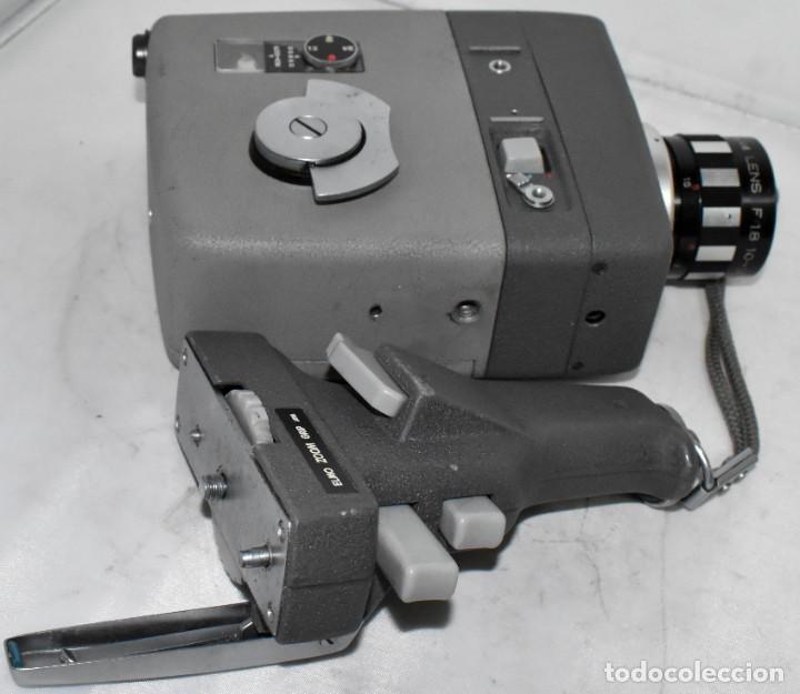 Antigüedades: EXCELENTE Y RARA CAMARA DE CINE A CUERDA..8mm..ELMO 8 S ZOOM AUTO EYE+..MUY BUEN ESTADO..FUNCIONA - Foto 16 - 222598596