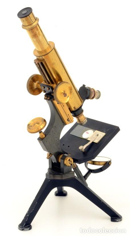 MICROSCOPIO ANTIGUO WATSON TIPO 'FRAM' (C.1895) (Antigüedades - Técnicas - Instrumentos Ópticos - Microscopios Antiguos)